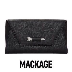 Mackage Black Flex Clutch EUC